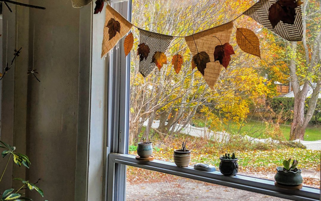 DIY Beeswax Autumn Garland